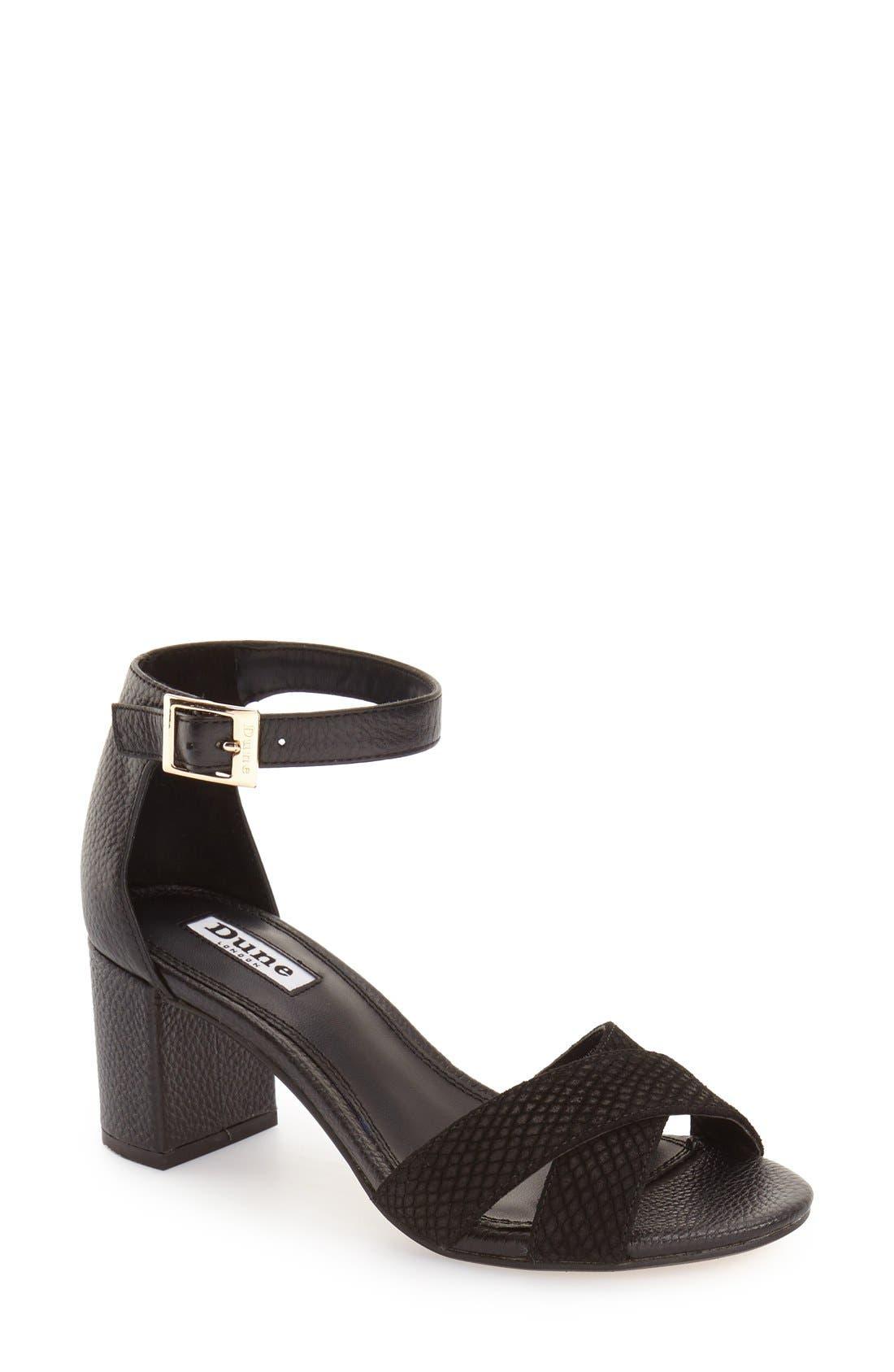 Alternate Image 1 Selected - Dune London 'Imelda' Block Heel Ankle Strap Sandal (Women)