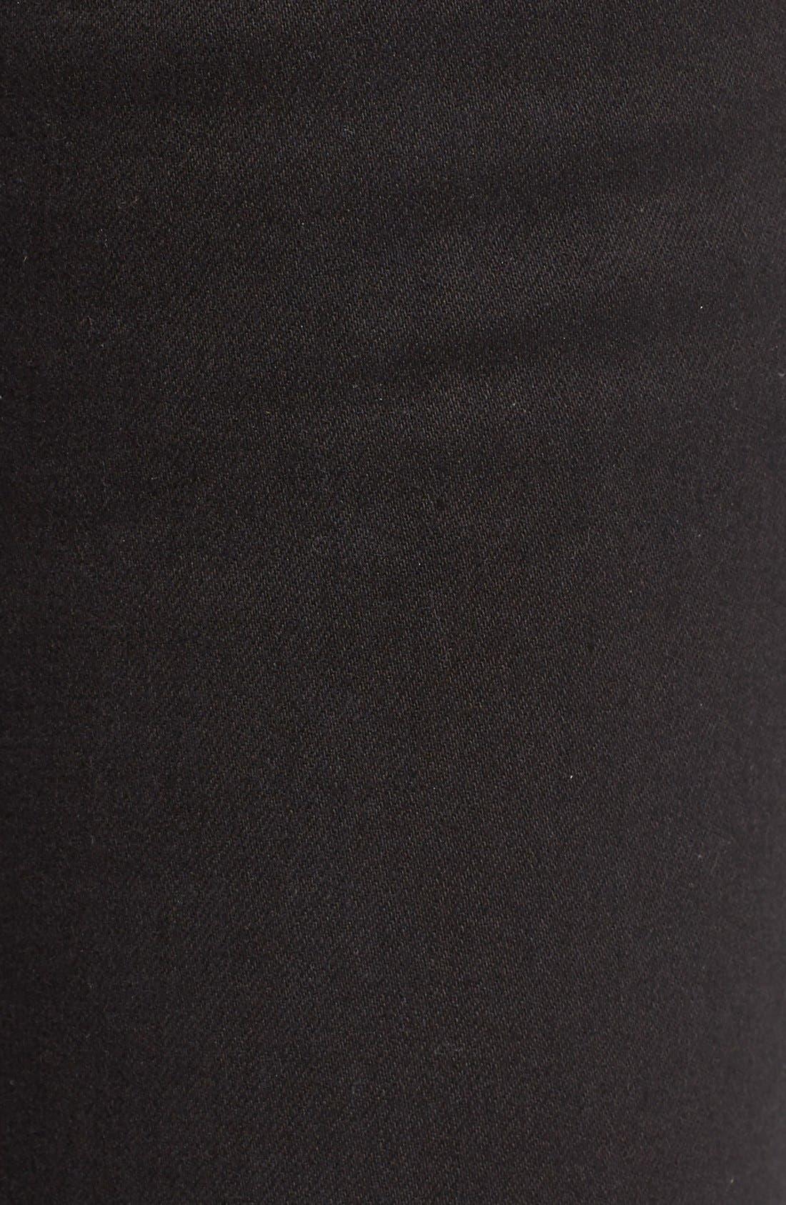 Alternate Image 5  - Cheap Monday High Rise Skinny Jeans (New Black)