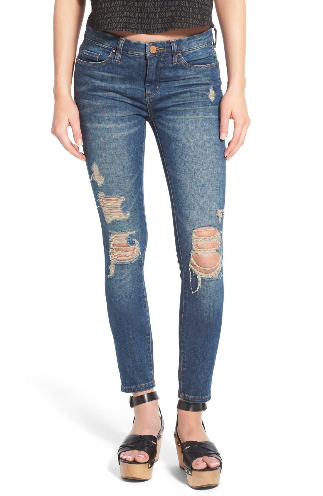 Alternate Image 1 Selected - BLANKNYC Distressed Skinny Jeans