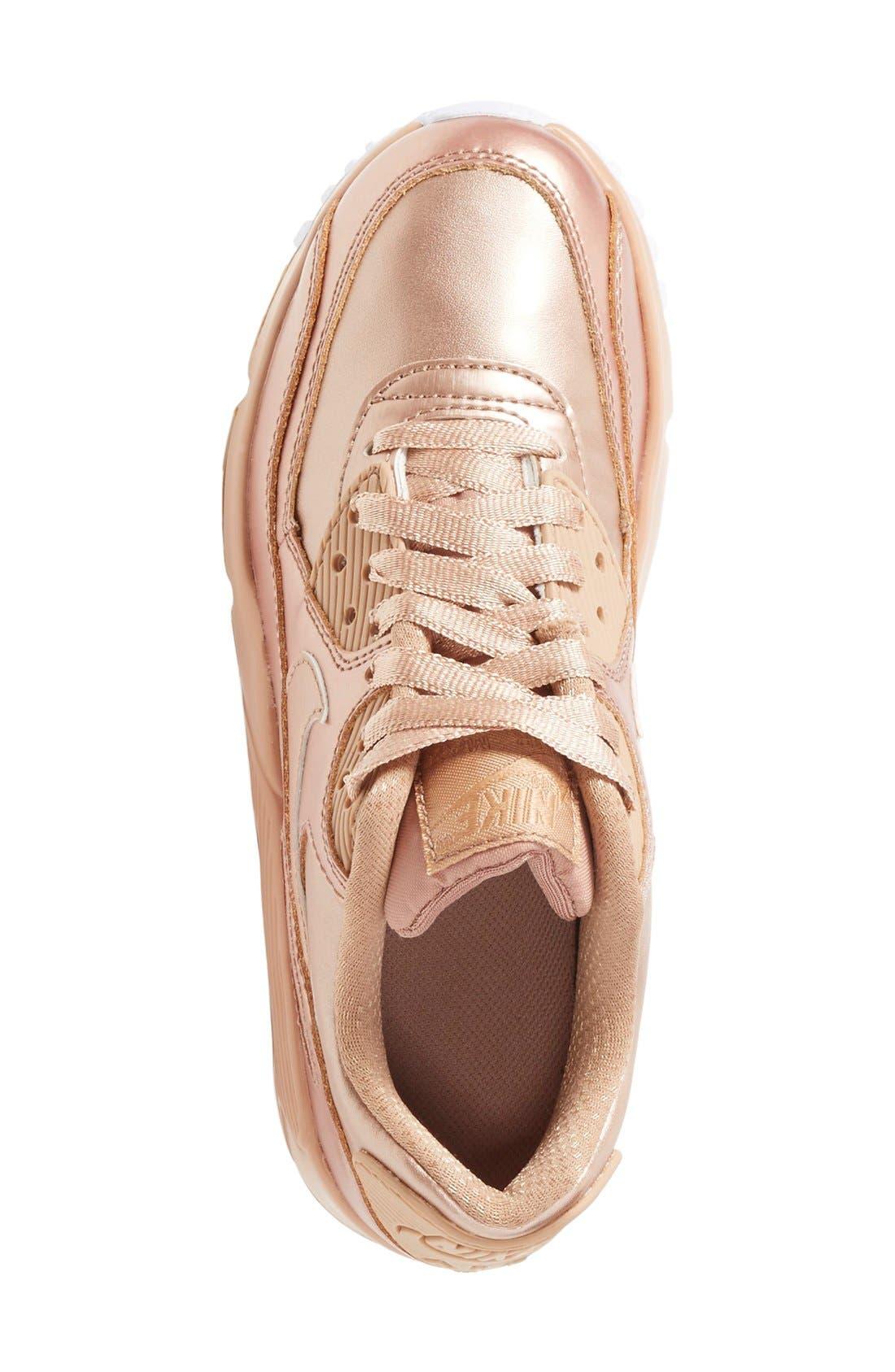 Alternate Image 3  - Nike Air Max 90 SE Sneaker (Big Kids)