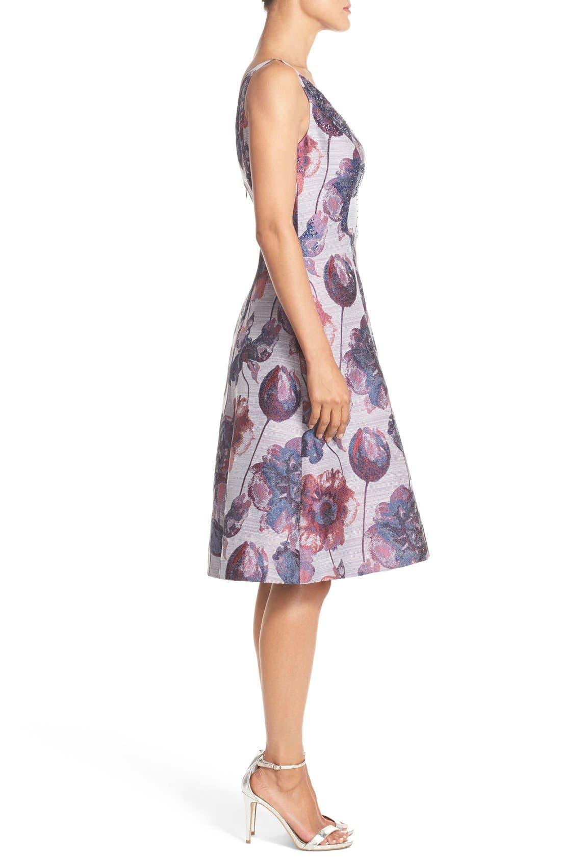 Alternate Image 4  - Adrianna Papell Floral Print Fit & Flare Dress (Regular & Petite)