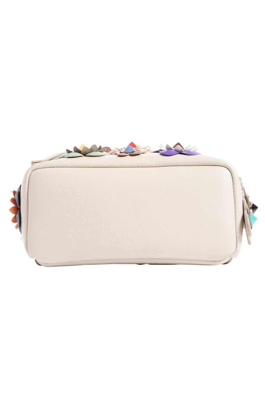 Alternate Image 5  - Fendi Floral Appliqué Leather Mini Backpack