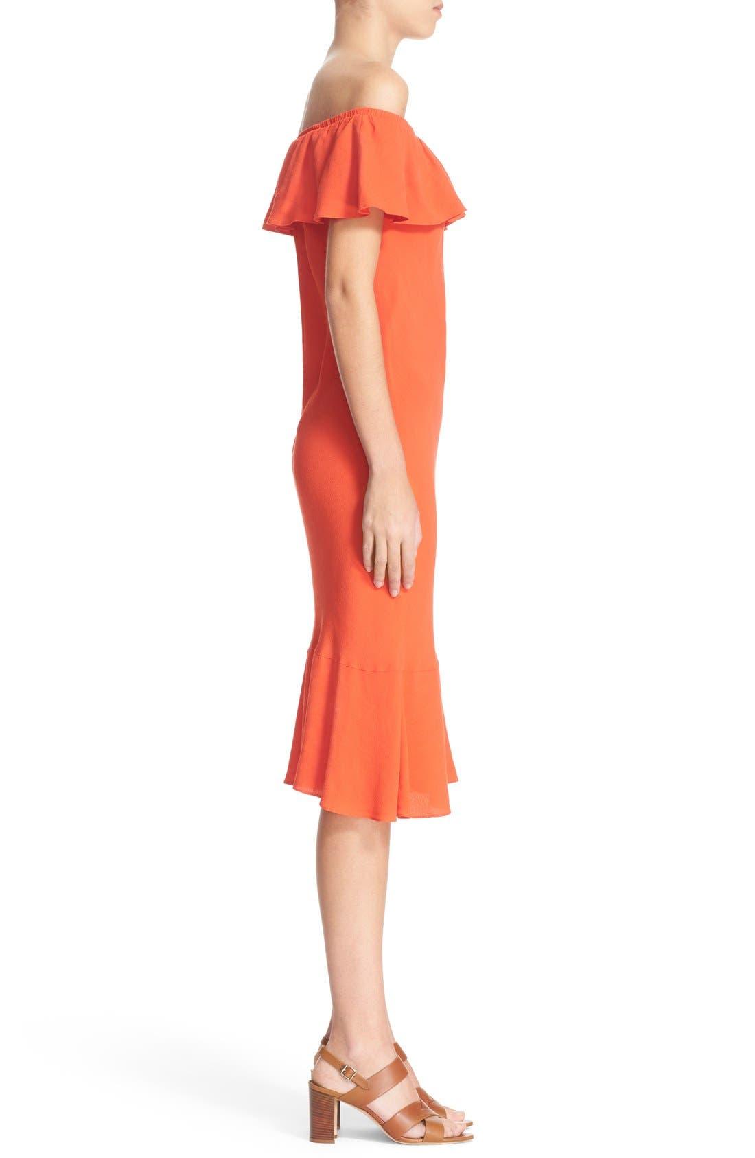 Alternate Image 3  - Veronica Beard 'Oleta' Ruffle Off the Shoulder Dress