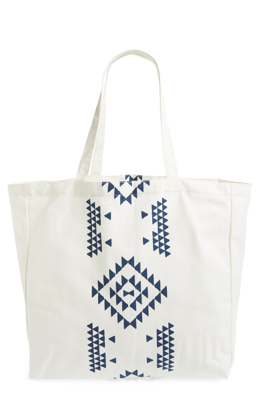 Alternate Image 1 Selected - Soleil Geo Print Canvas Tote