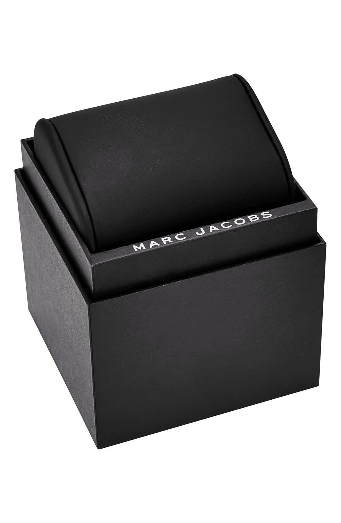Alternate Image 4  - MARC JACOBS 'Baker' Crystal Index Leather Strap Watch, 36mm