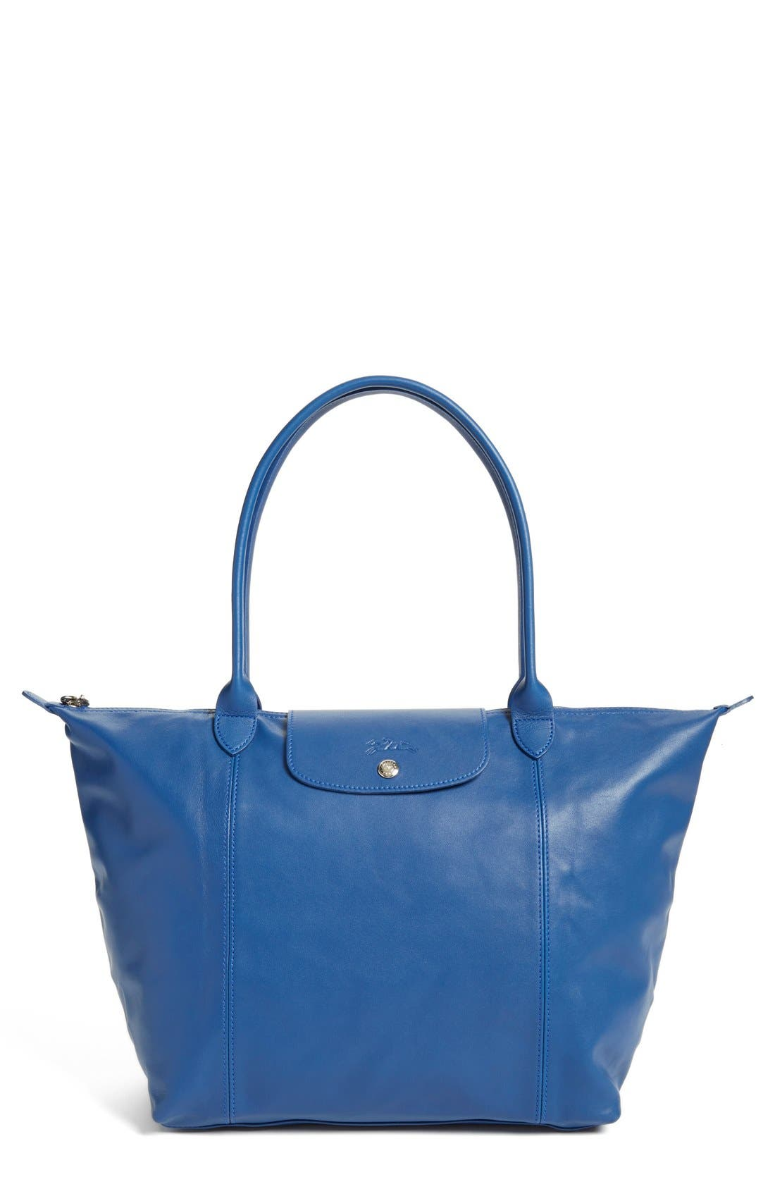 Main Image - Longchamp 'Le Pliage Cuir' Leather Tote