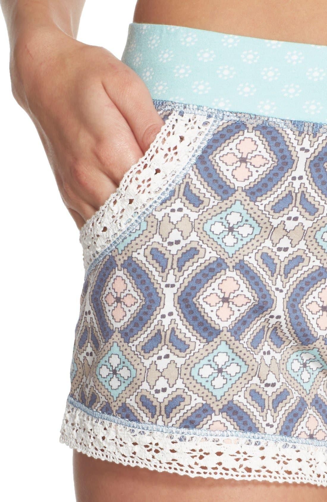Alternate Image 4  - PJ Salvage 'Miss' Print Pajama Shorts