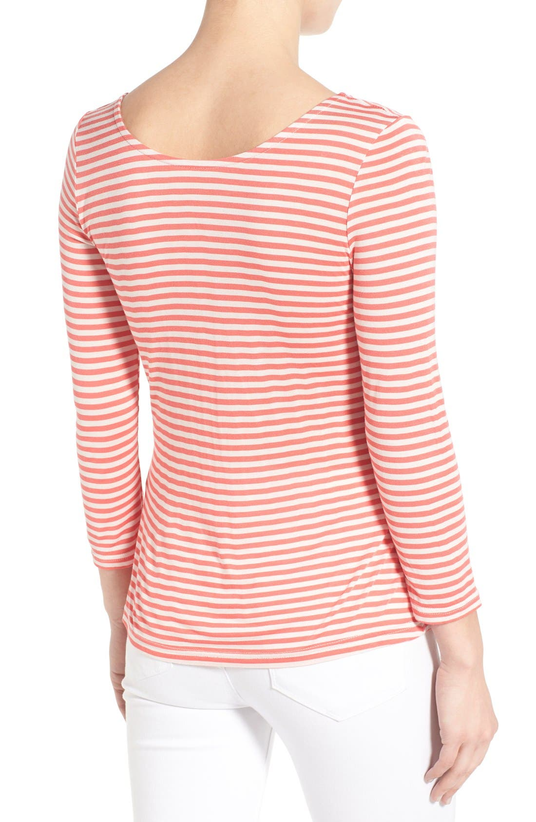 Alternate Image 2  - cupcakes and cashmere 'Wink' Stripe Scoop Neck Top