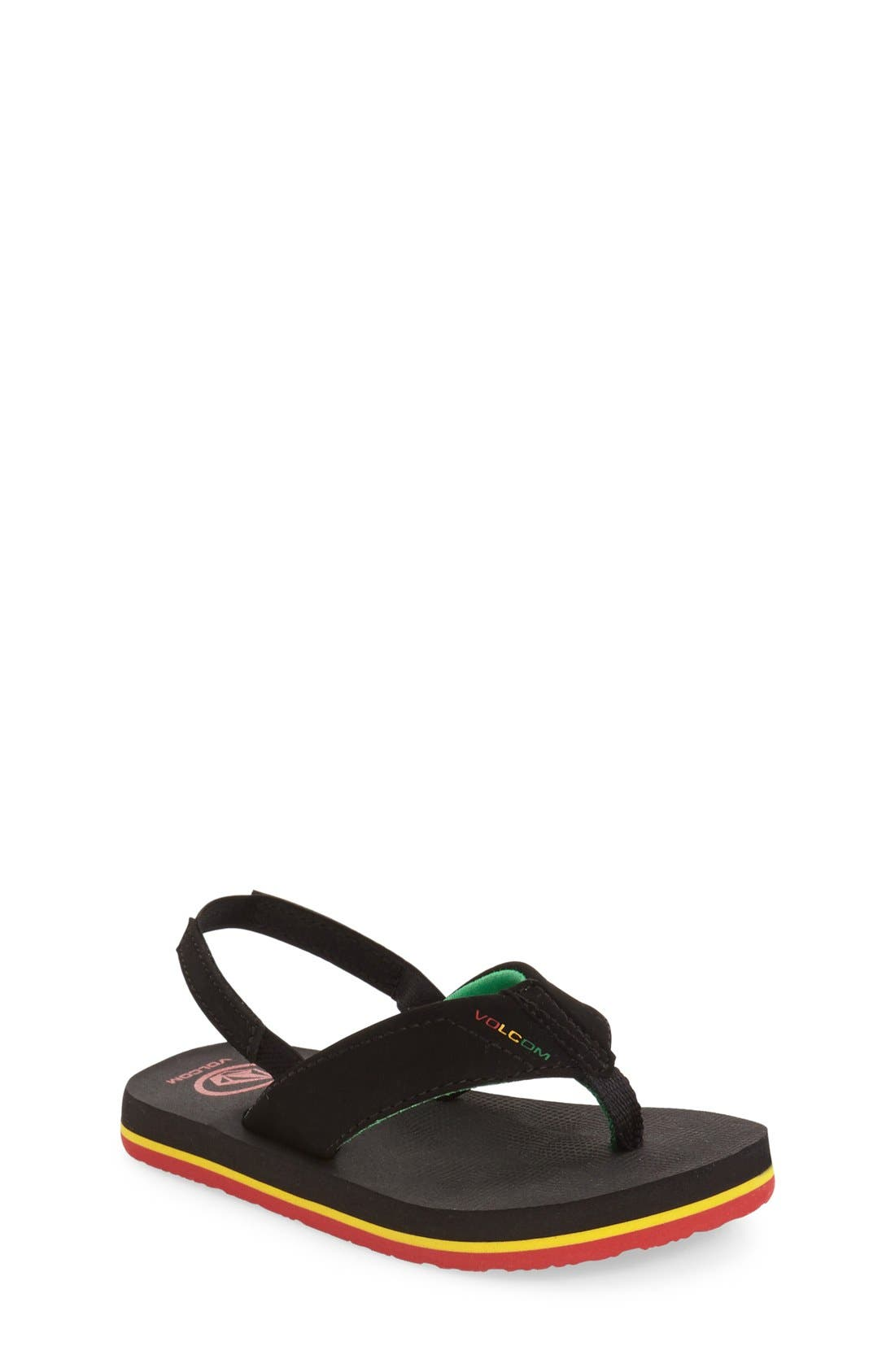 Volcom 'Victor' Flip Flop (Toddler & Little Kid)