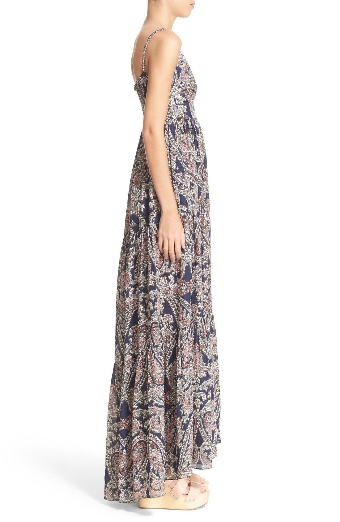 Alternate Image 3  - L'AGENCE 'Honor' Print Silk Maxi Dress