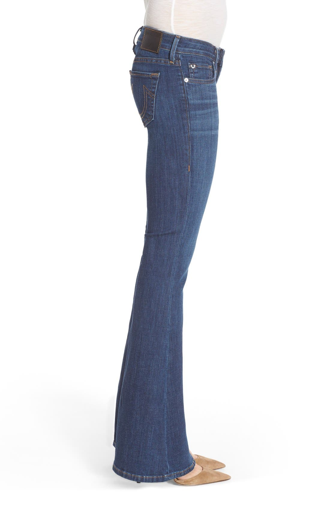 Alternate Image 3  - True Religion Brand Jeans 'Karlie' Bell Bottom Jeans (Worn Vintage)