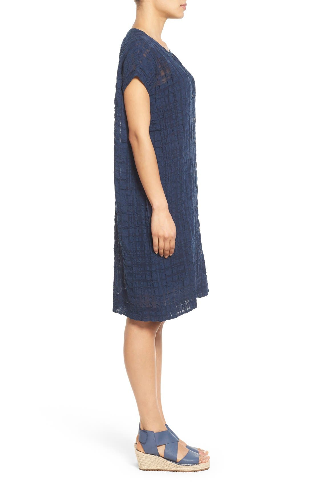 Alternate Image 3  - Eileen Fisher Button Front Boxy Dress (Regular & Petite)
