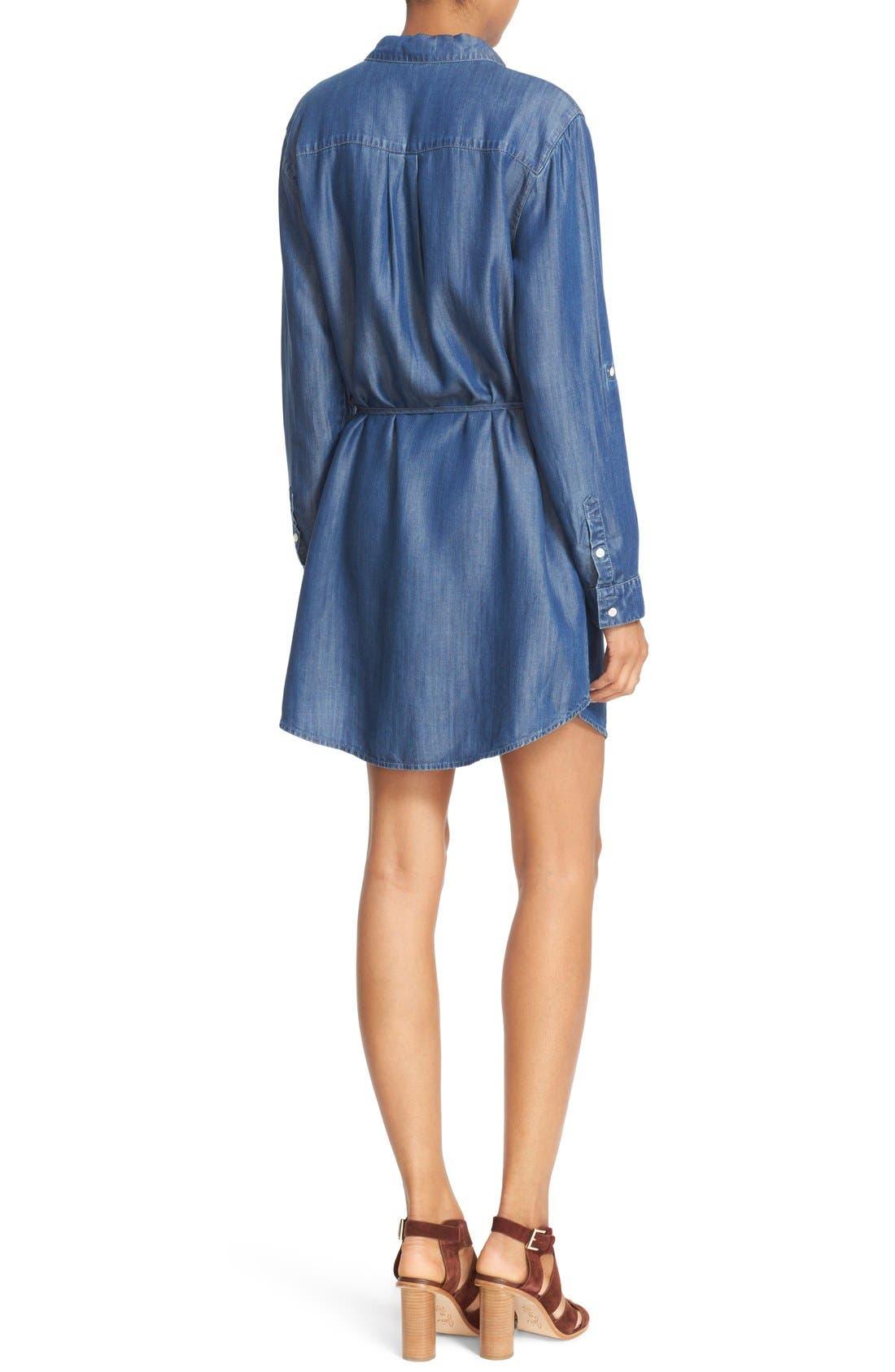 Alternate Image 2  - Soft Joie 'Lilyana' Roll Sleeve Shirtdress