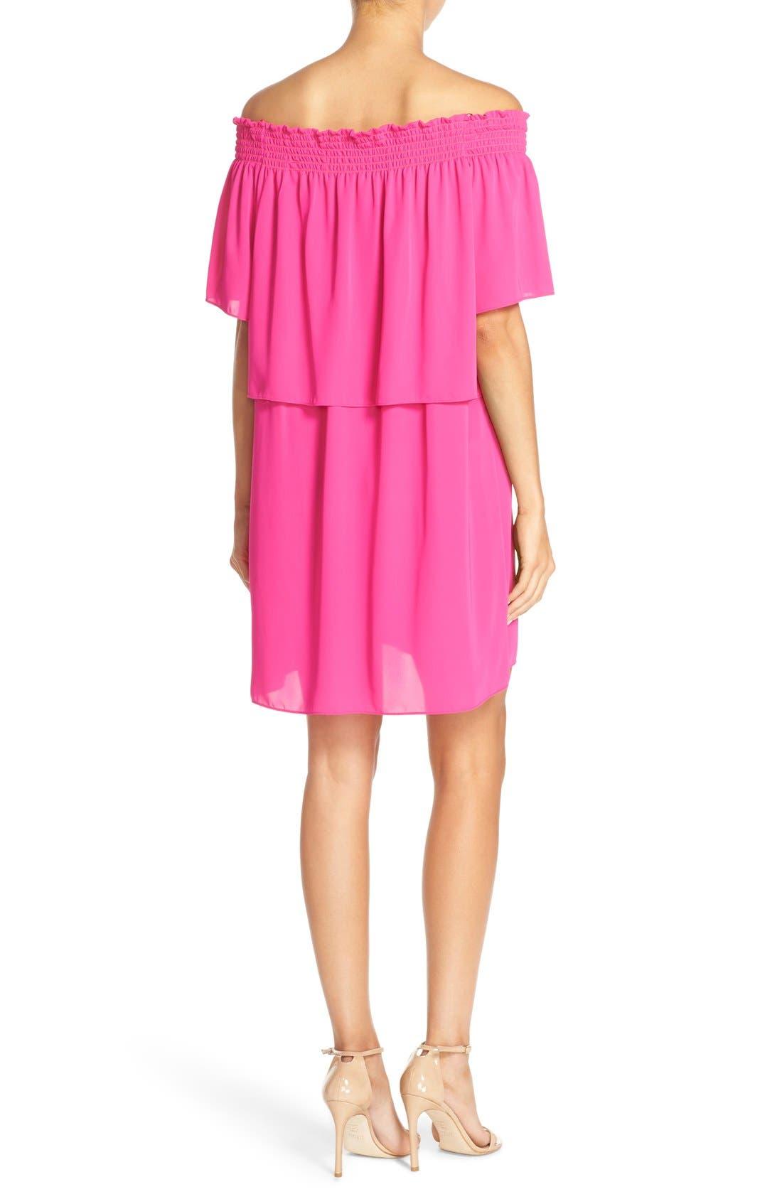 Alternate Image 2  - Amanda Uprichard 'Cleo' Popover Off the Shoulder Dress