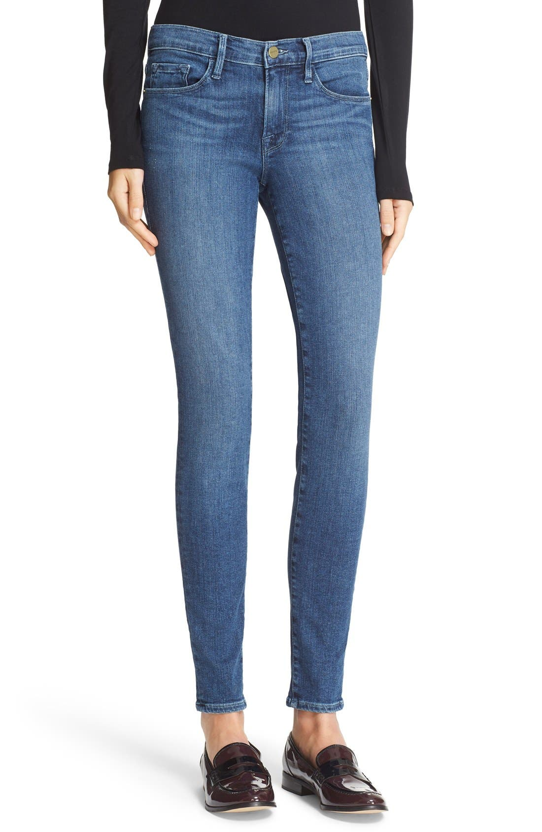 Alternate Image 1 Selected - FRAME 'Le Skinny de Jeanne' Jeans (Rivercrest)