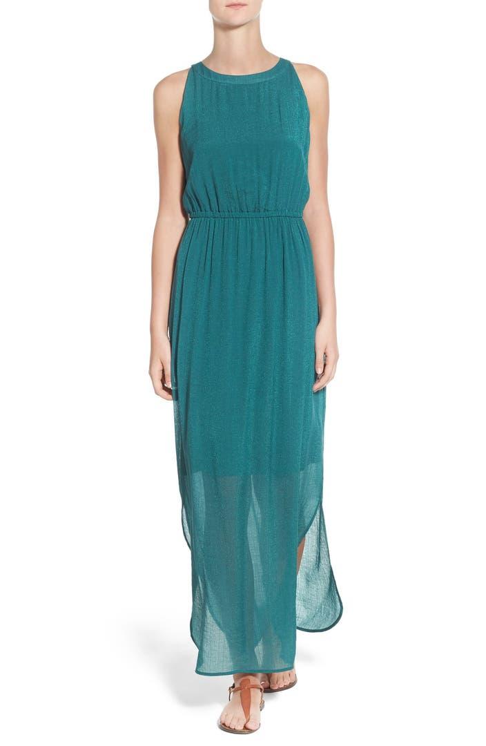 NIC+ZOE 'Emerald Burst' A-Line Maxi Dress | Nordstrom