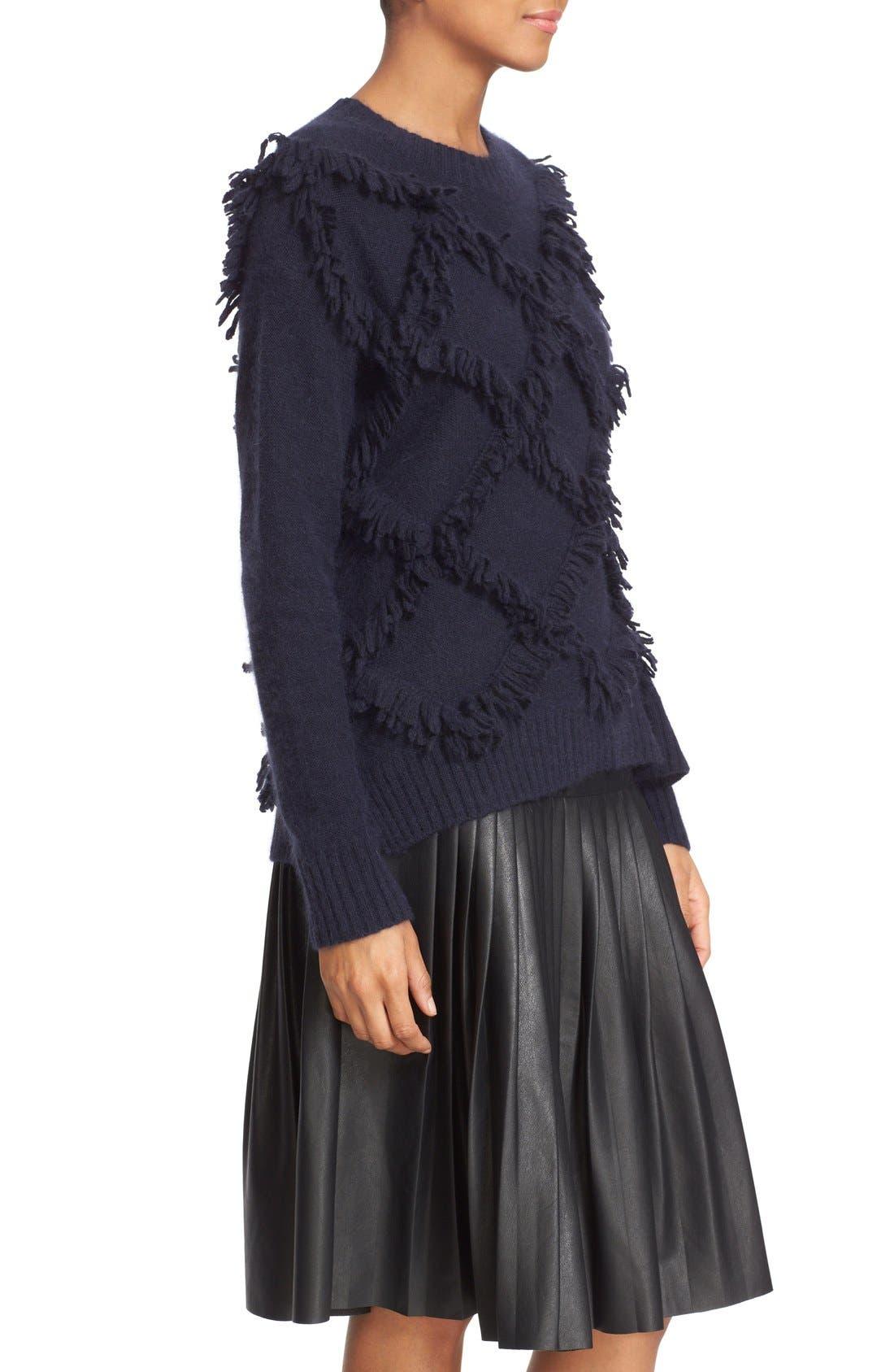 Alternate Image 3  - Rebecca Taylor Fringe Pullover Sweater