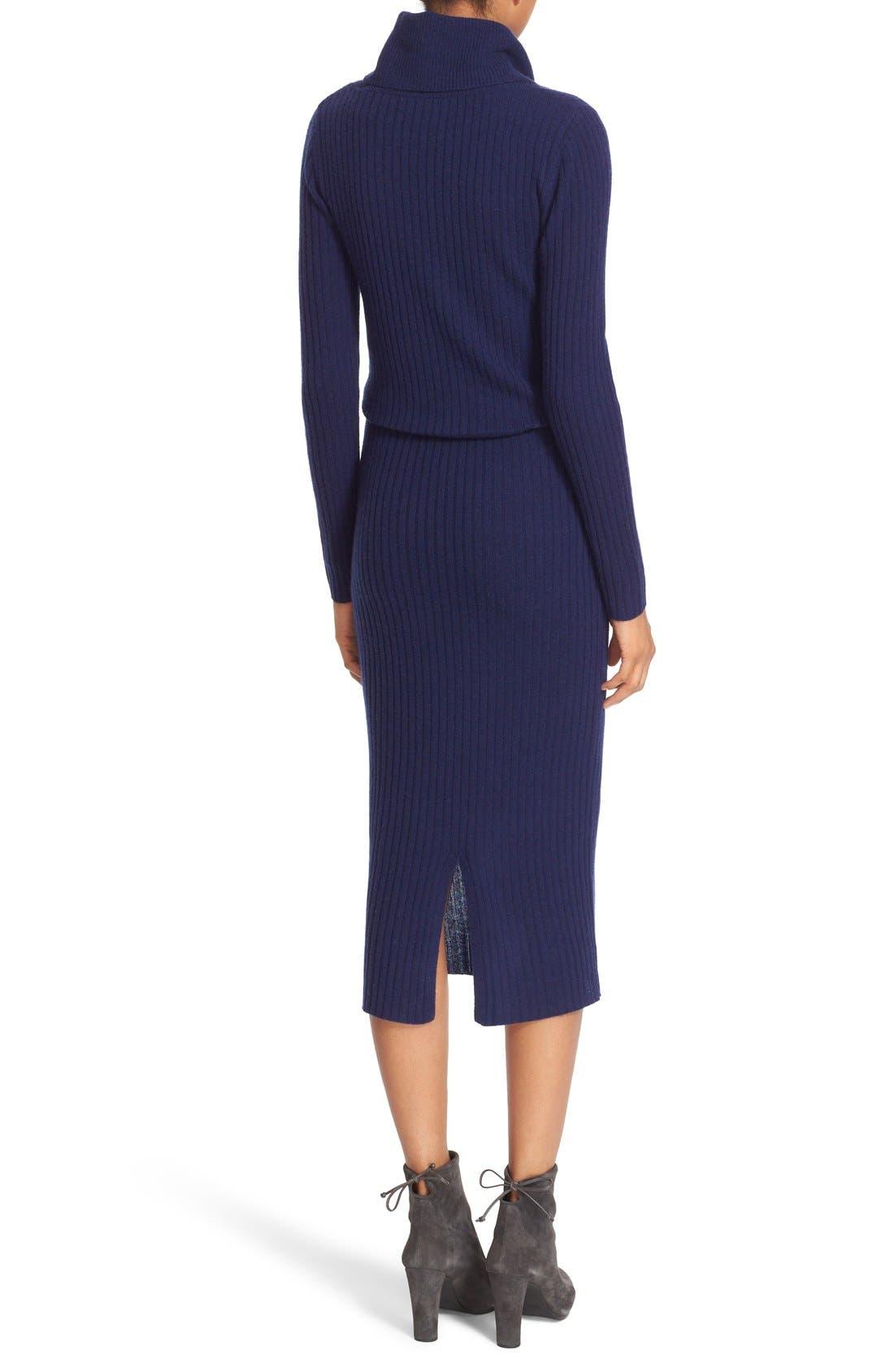 Alternate Image 2  - Alice + Olivia 'Hailee' Cowl Neck Blouson Sweater Dress