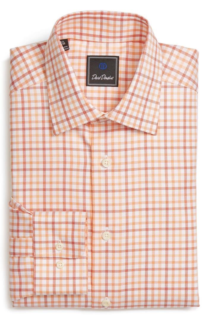 David Donahue Regular Fit Check Dress Shirt Nordstrom