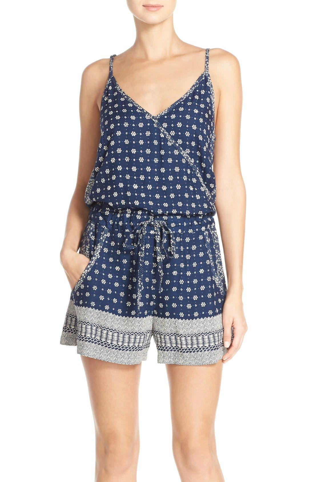 Main Image - French Connection 'Castaway' Floral Print Romper