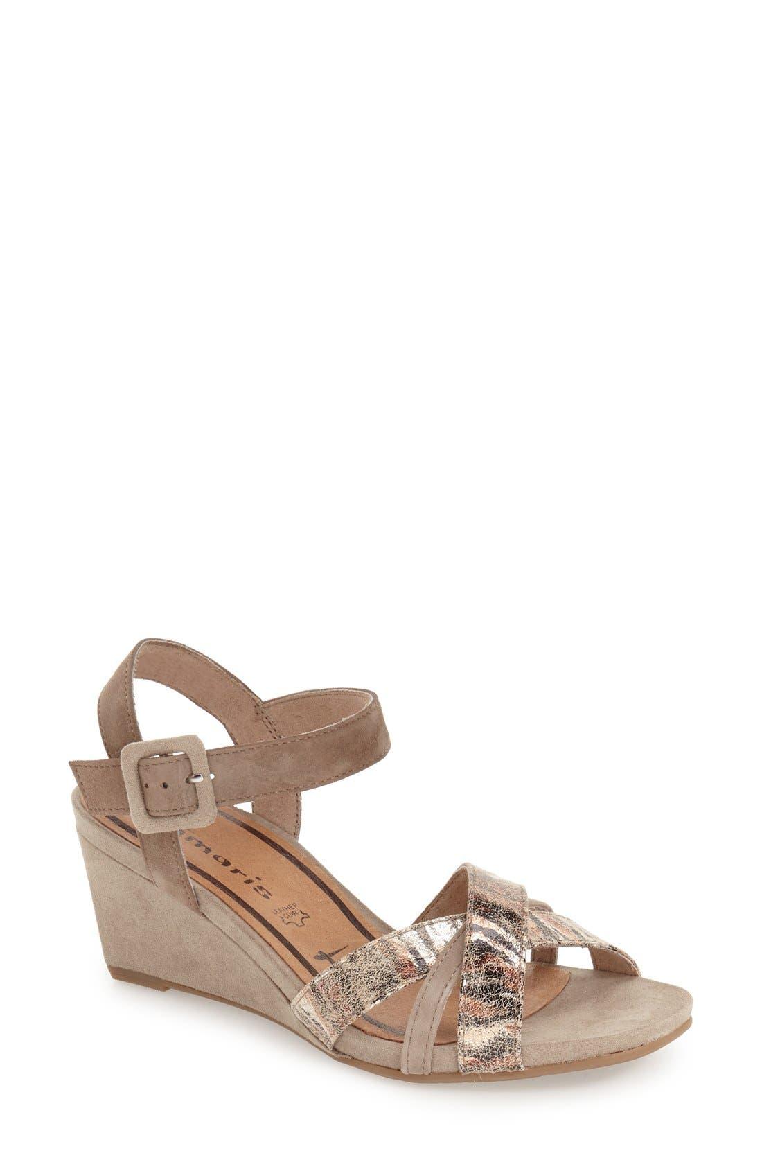Tamaris 'Inex' Quarter Strap Wedge Sandal (Women)