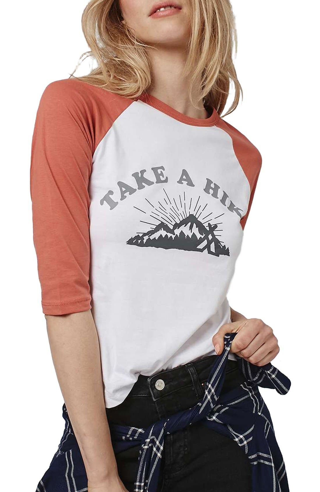 Alternate Image 1 Selected - Topshop by Tea & Cake 'Take a Hike' Baseball Tee