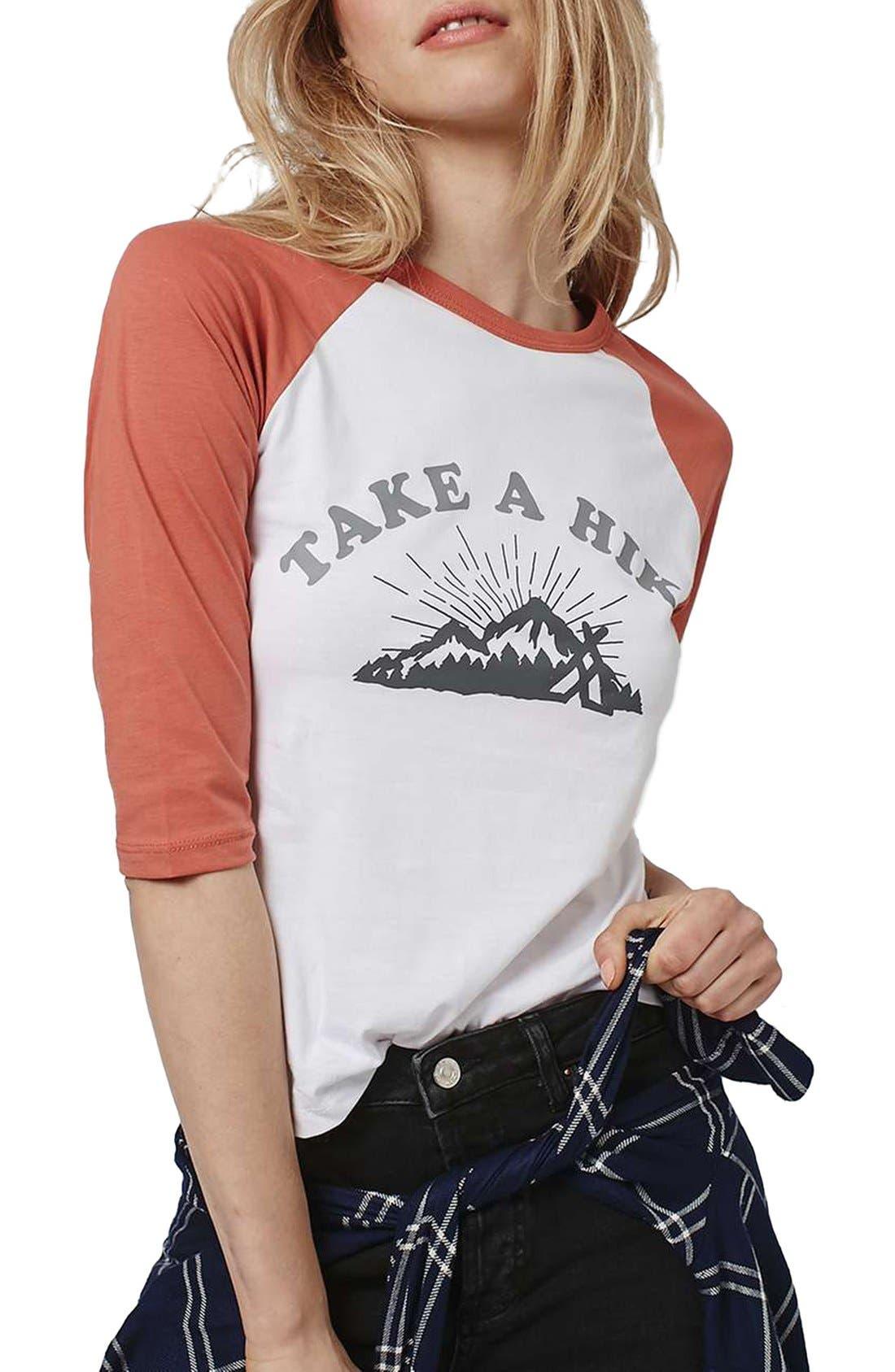 Main Image - Topshop by Tea & Cake 'Take a Hike' Baseball Tee