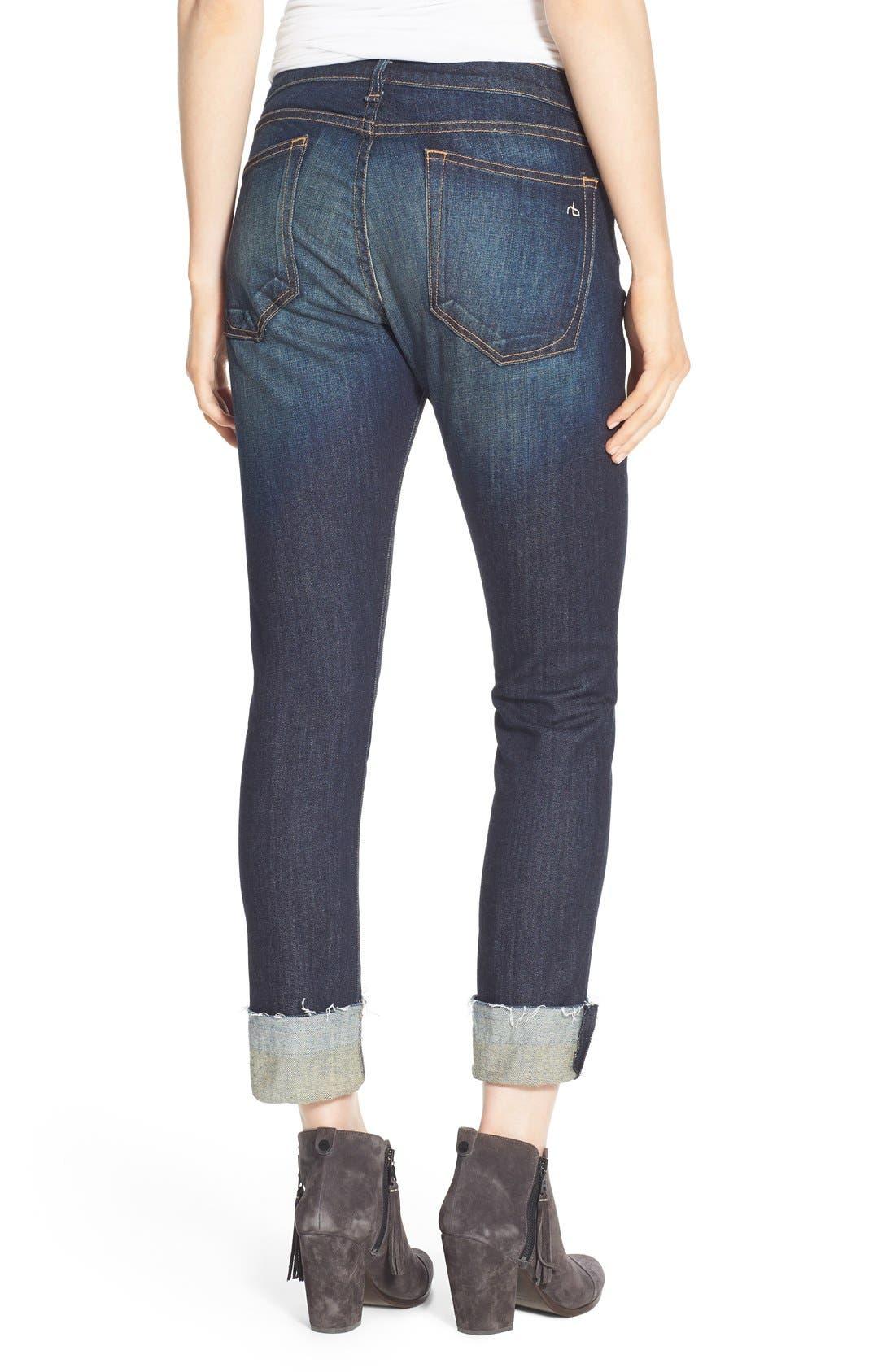 Alternate Image 3  - rag & bone/JEAN 'The Dre' Slim Fit Boyfriend Jeans (Yesler)