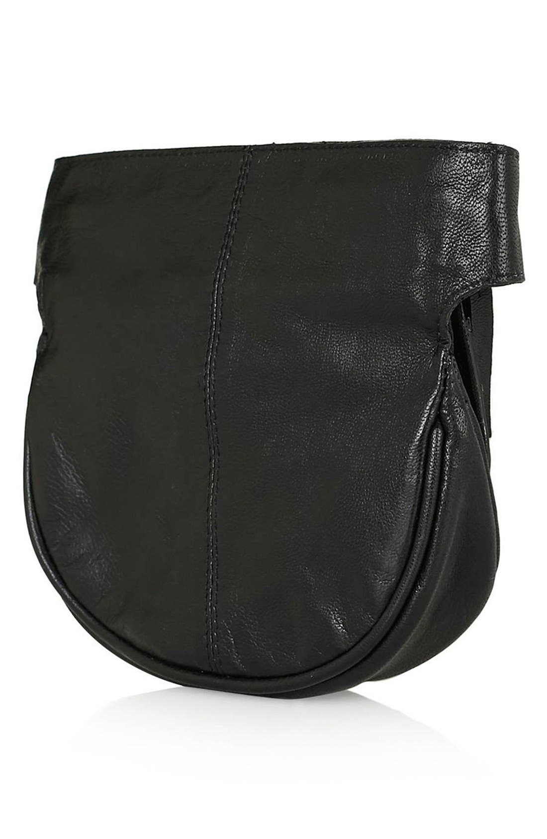 Alternate Image 3  - Topshop Western Leather & Calf Hair Belt Bag
