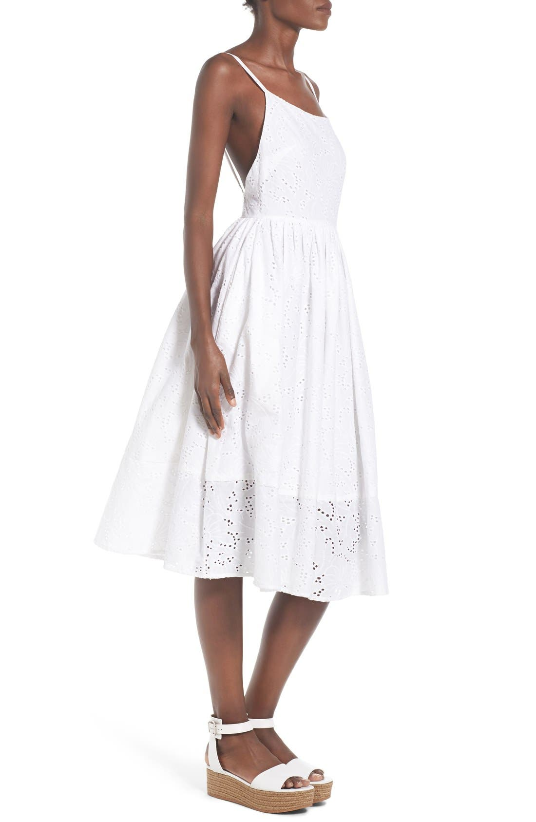 Alternate Image 3  - Rachel Antonoff 'Melissa' Cotton Eyelet Fit & Flare Dress