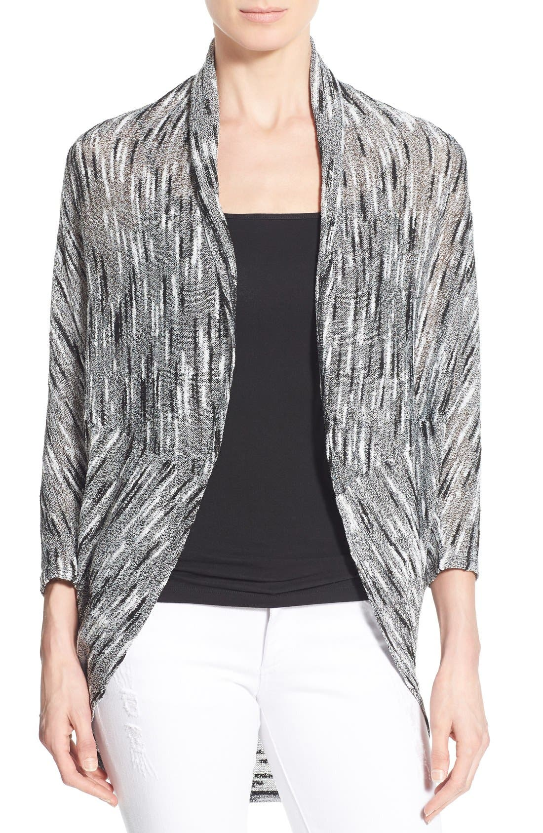 Alternate Image 1 Selected - Chaus Dolman Sleeve Oval Cut Cardigan