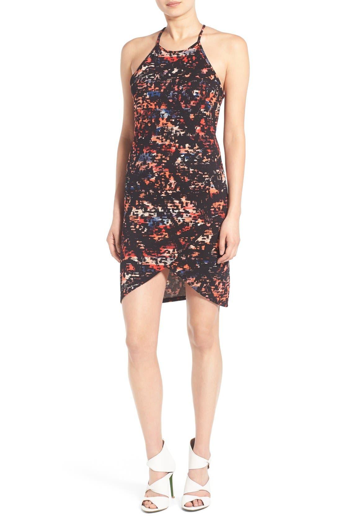 Main Image - June & Hudson Print Piqué Body-Con Dress