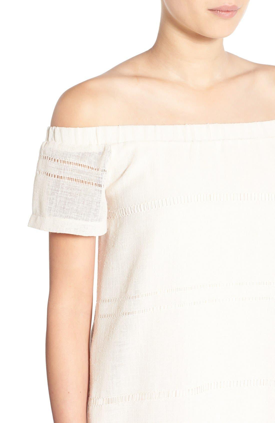 Alternate Image 5  - ASTR Off the Shoulder Shift Dress