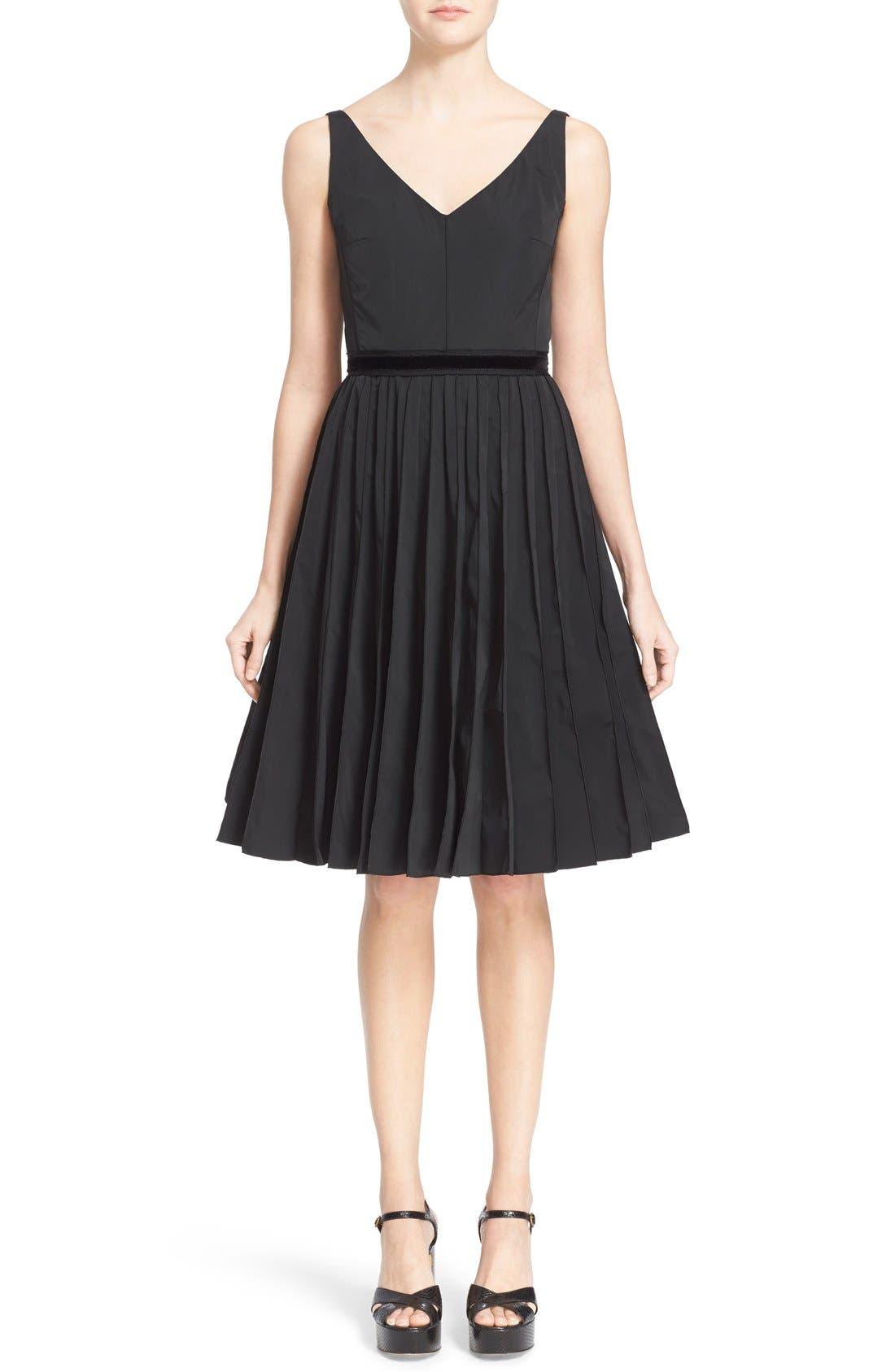 Alternate Image 1  - MARC JACOBS Pleated Sleeveless Fit & Flare Dress