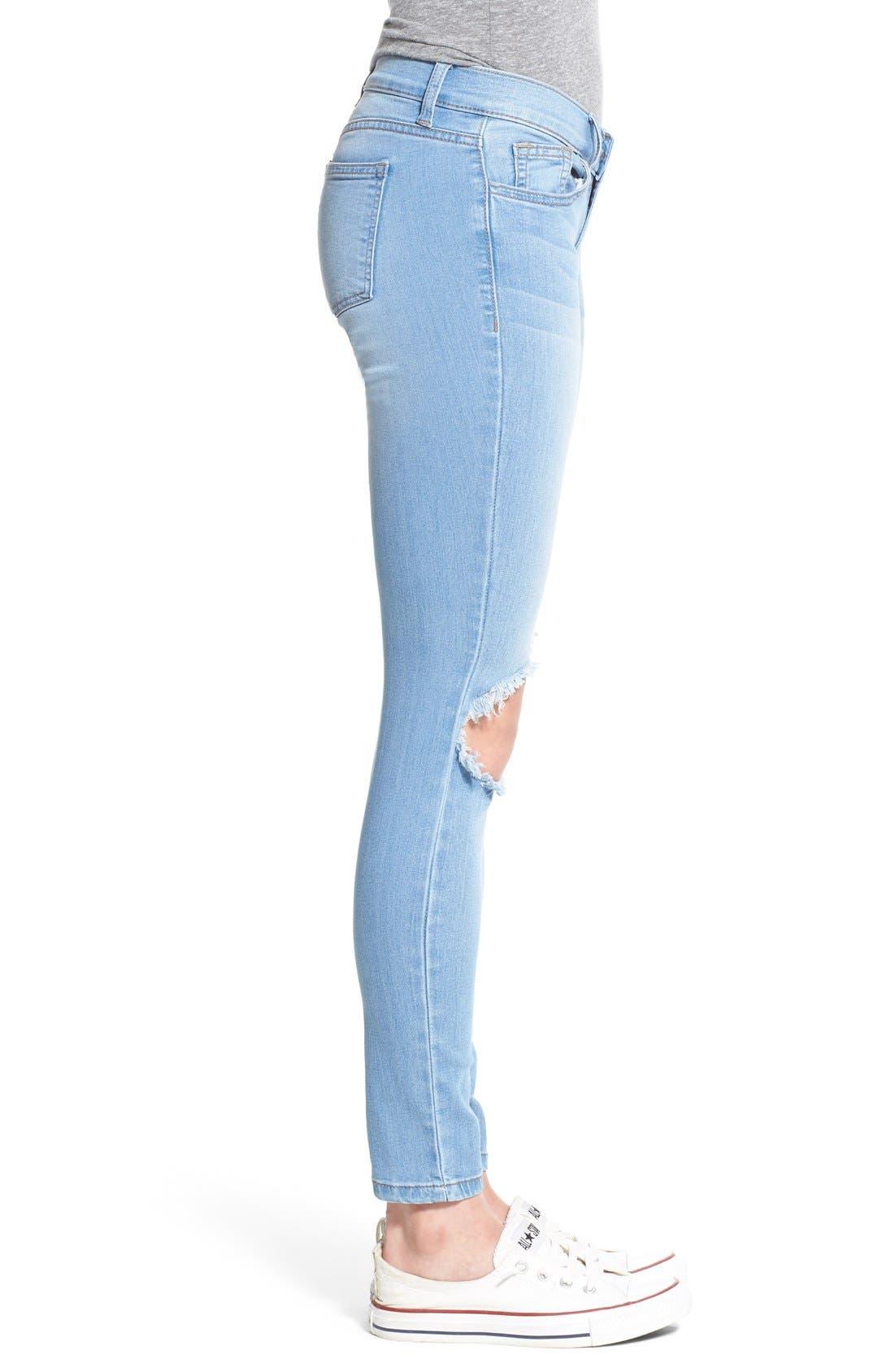 Alternate Image 3  - SP Black Destroyed Skinny Jeans
