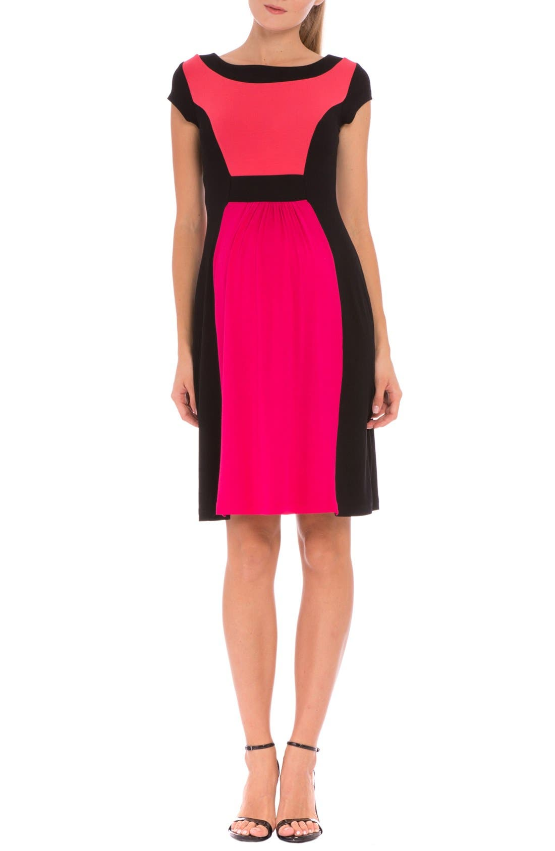 Olian 'Margarette' Colorblock Maternity Dress