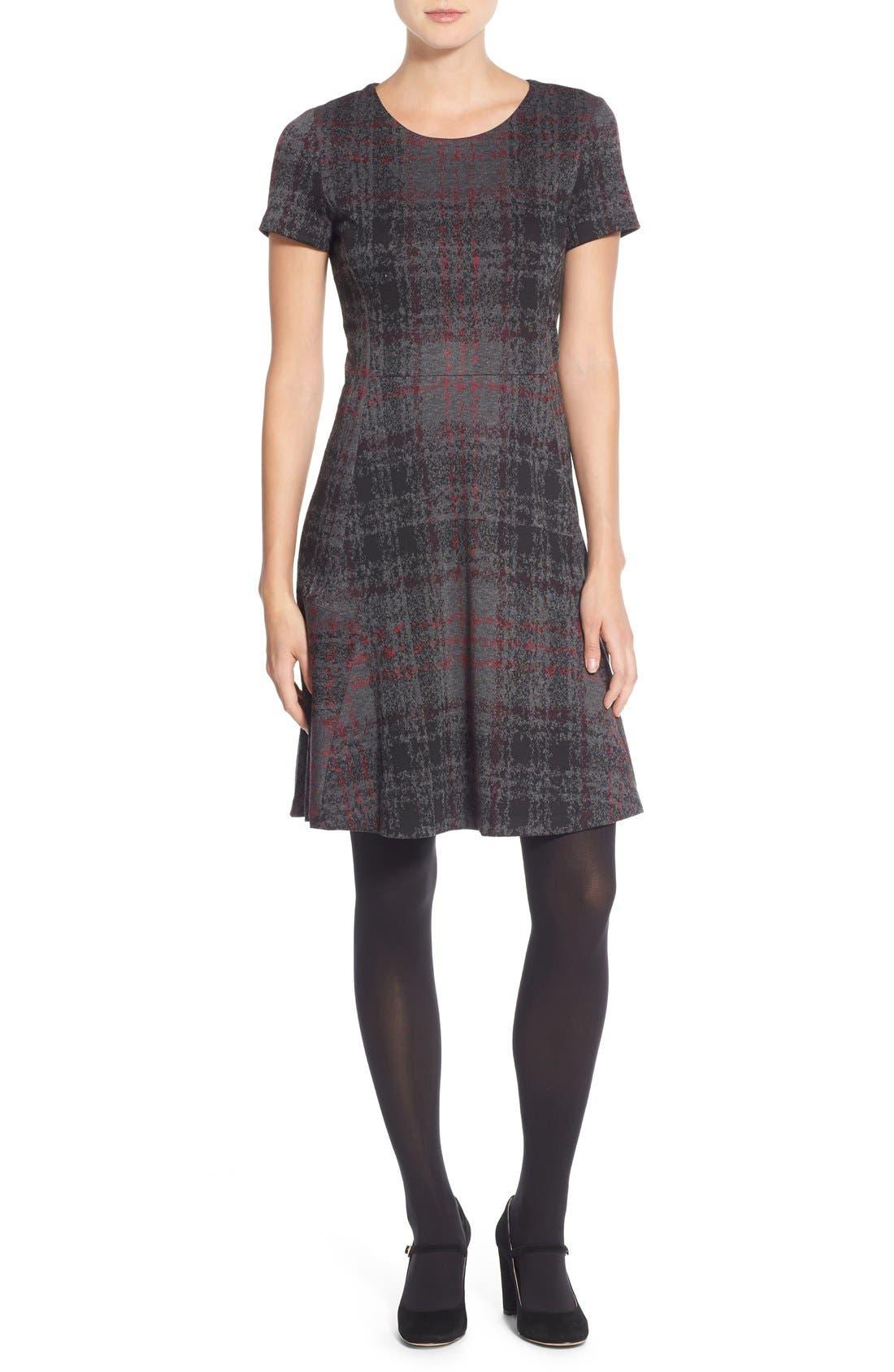 Alternate Image 4  - Betsey Johnson Print Ponte Fit & Flare Dress