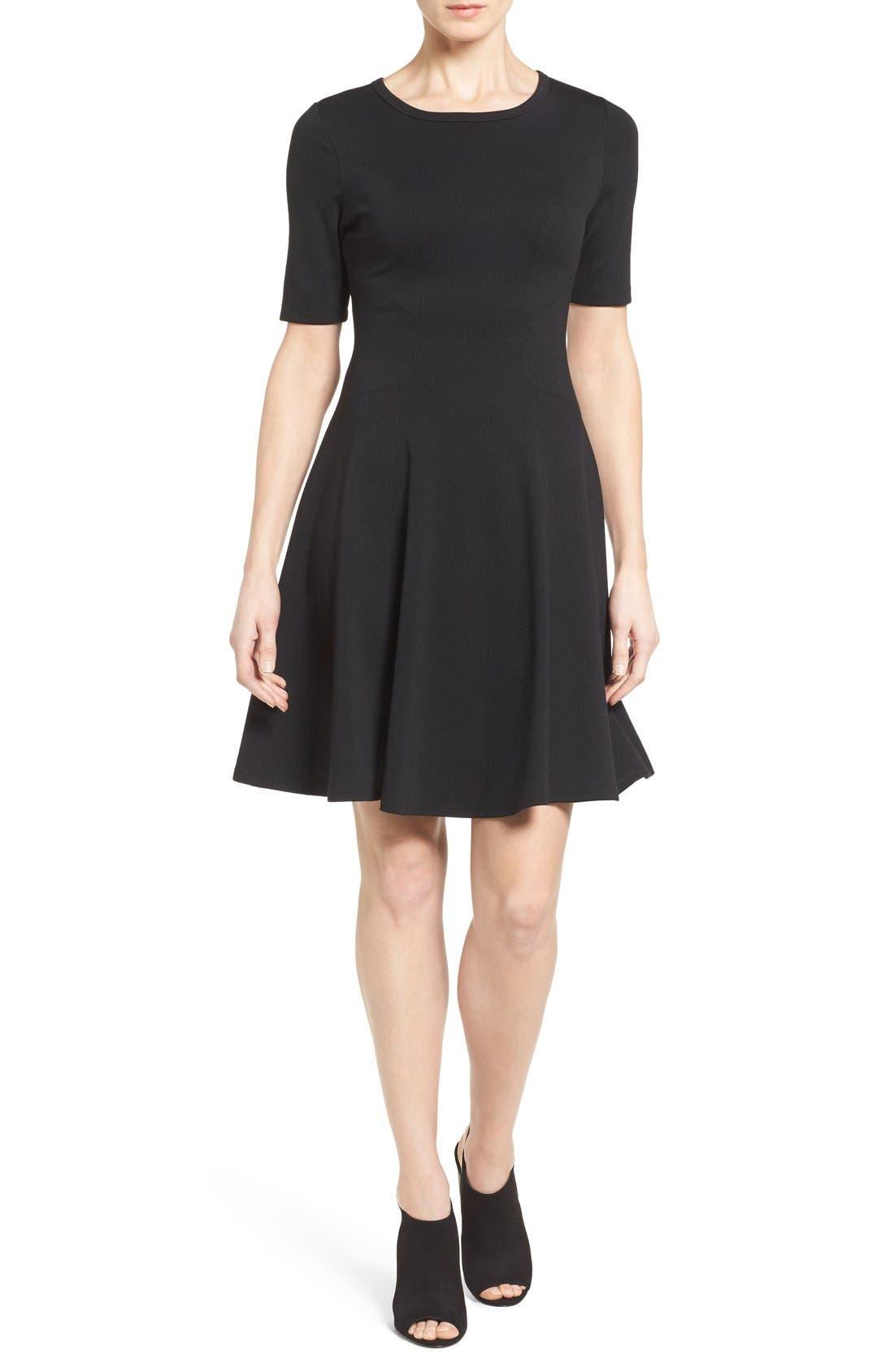 Alternate Image 1 Selected - Karen Kane 'Michelle' Short Sleeve Fit & Flare Dress