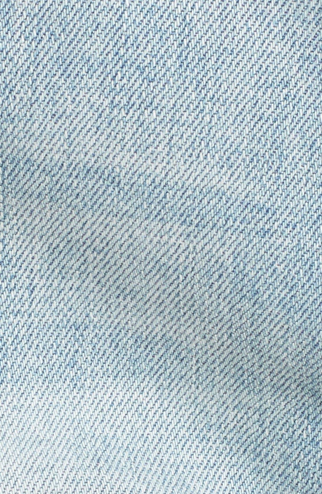 Alternate Image 4  - BLANKNYC Distressed Cutoff Denim Shorts (Secret Box)
