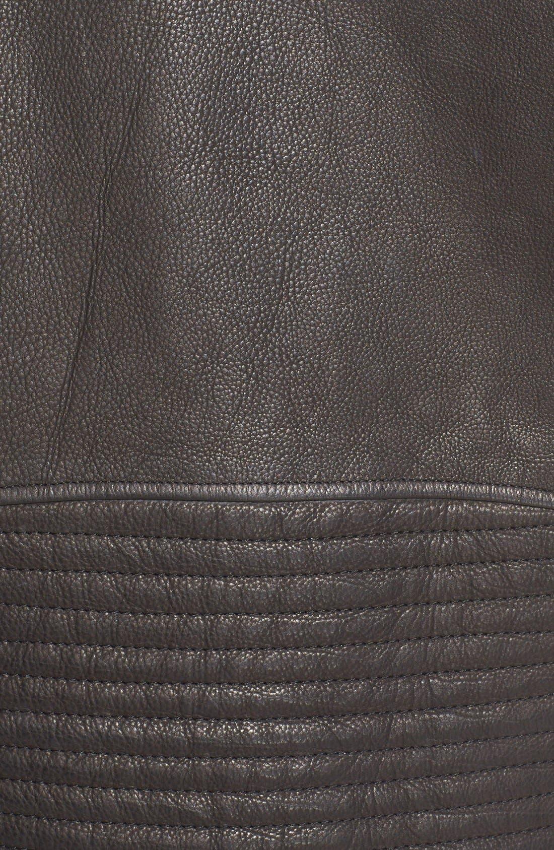 Alternate Image 3  - Alexander Wang Leather Moto Jacket