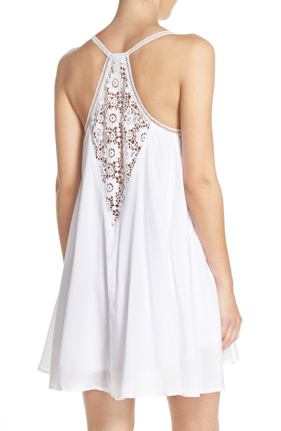 Alternate Image 2  - Elan Crochet Racerback Cover-Up Dress