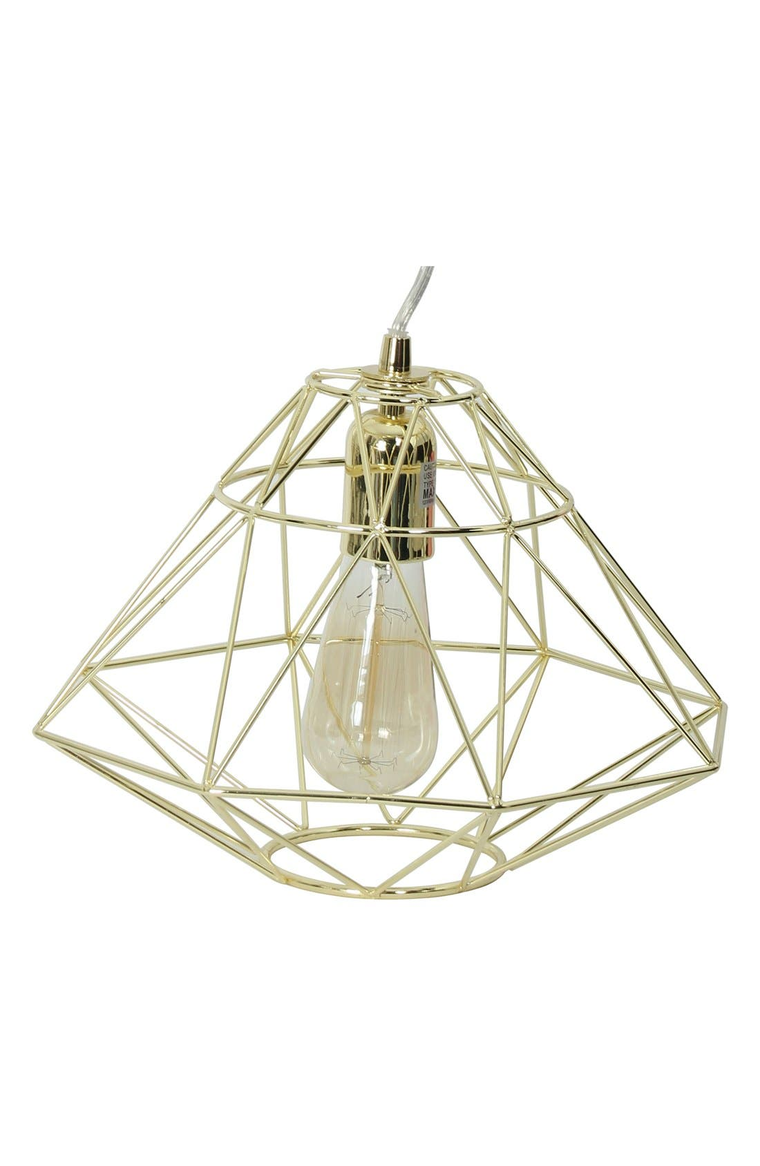 Alternate Image 1 Selected - Crystal Art Gallery 'Diamond' Caged Edison Bulb Pendant Lamp