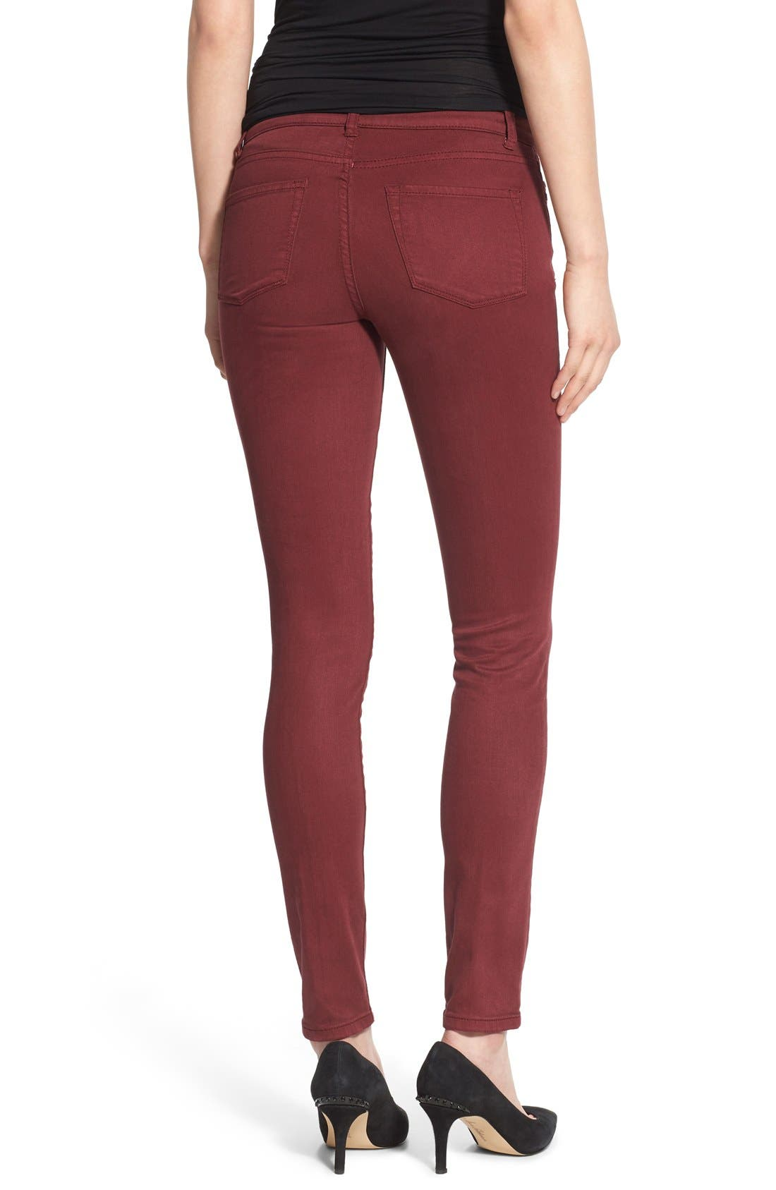 Alternate Image 2  - Caslon® Colored Stretch Skinny Jeans