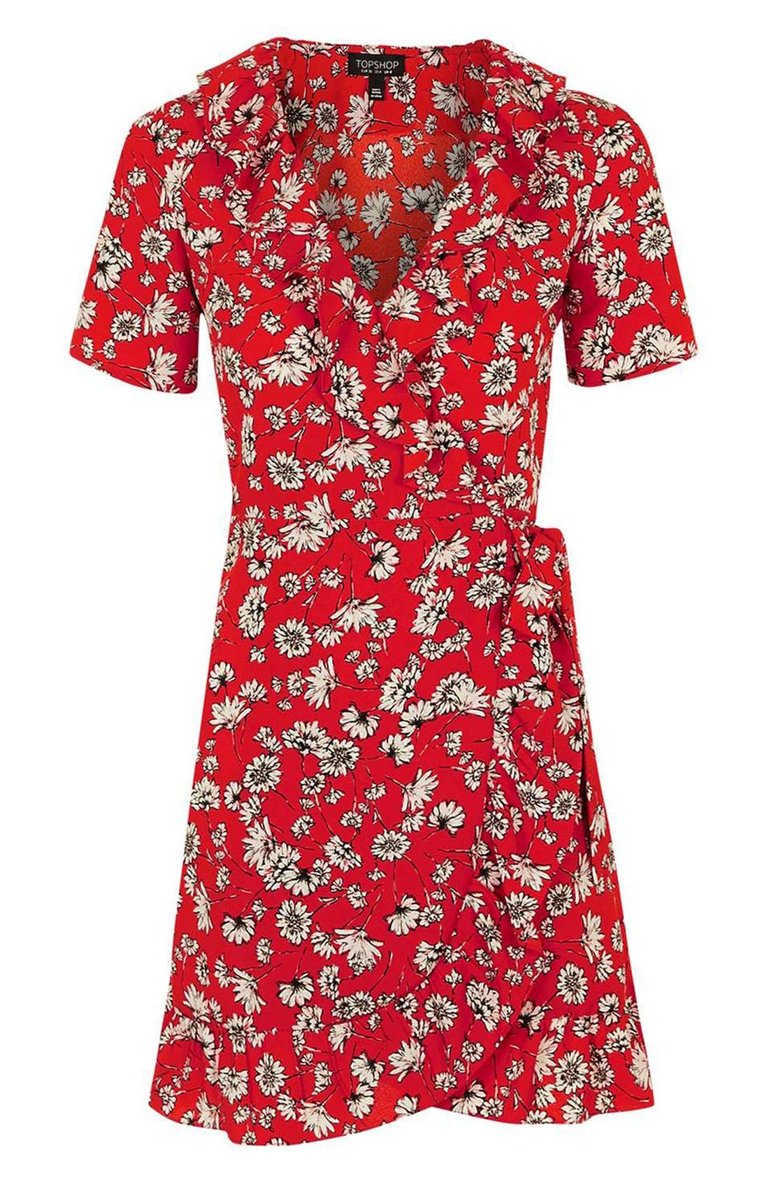 Alternate Image 4  - Topshop Daisy Ruffle Wrap Dress