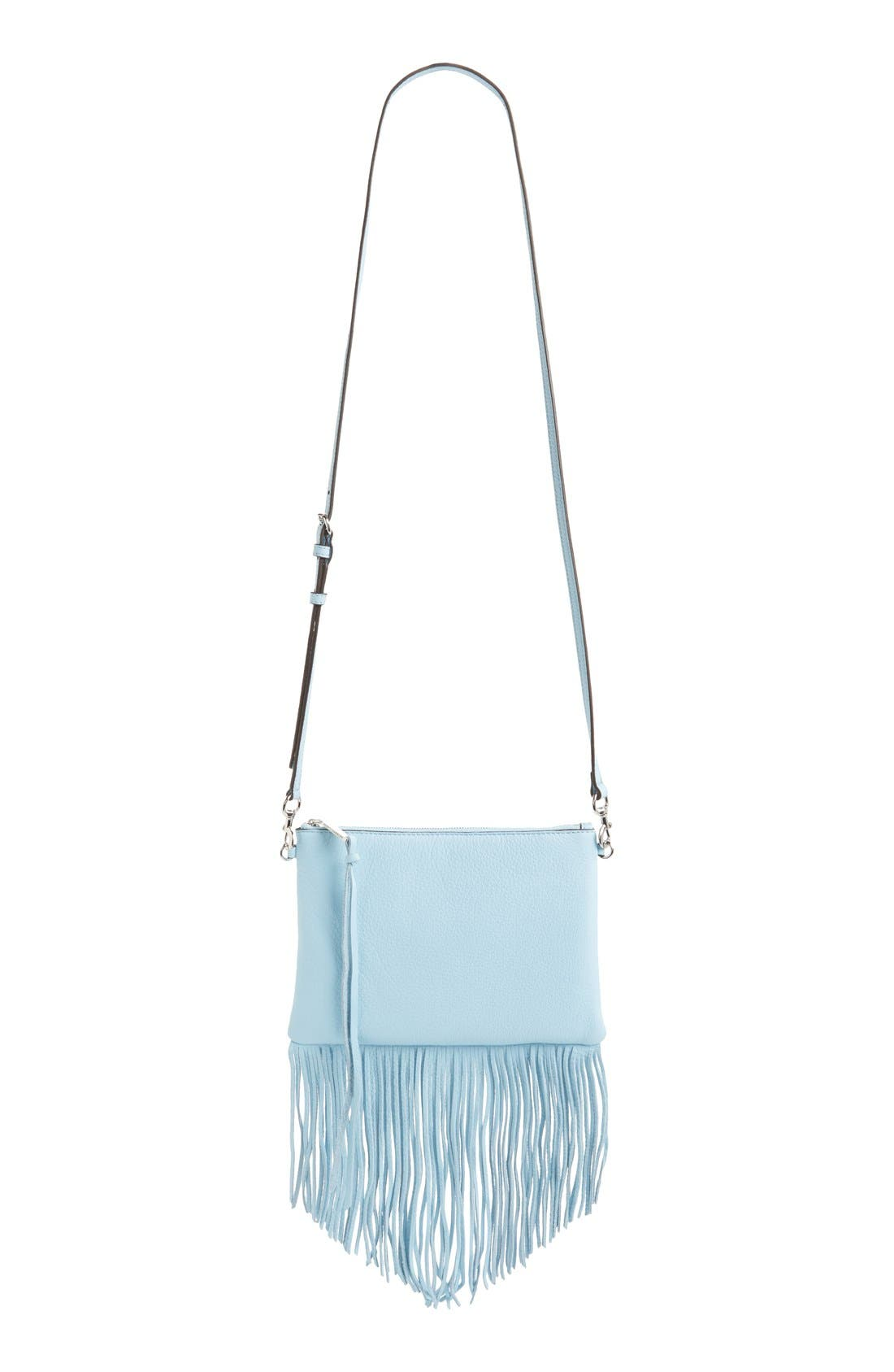 Alternate Image 1 Selected - Rebecca Minkoff 'Fringe Jon' Leather Crossbody Bag