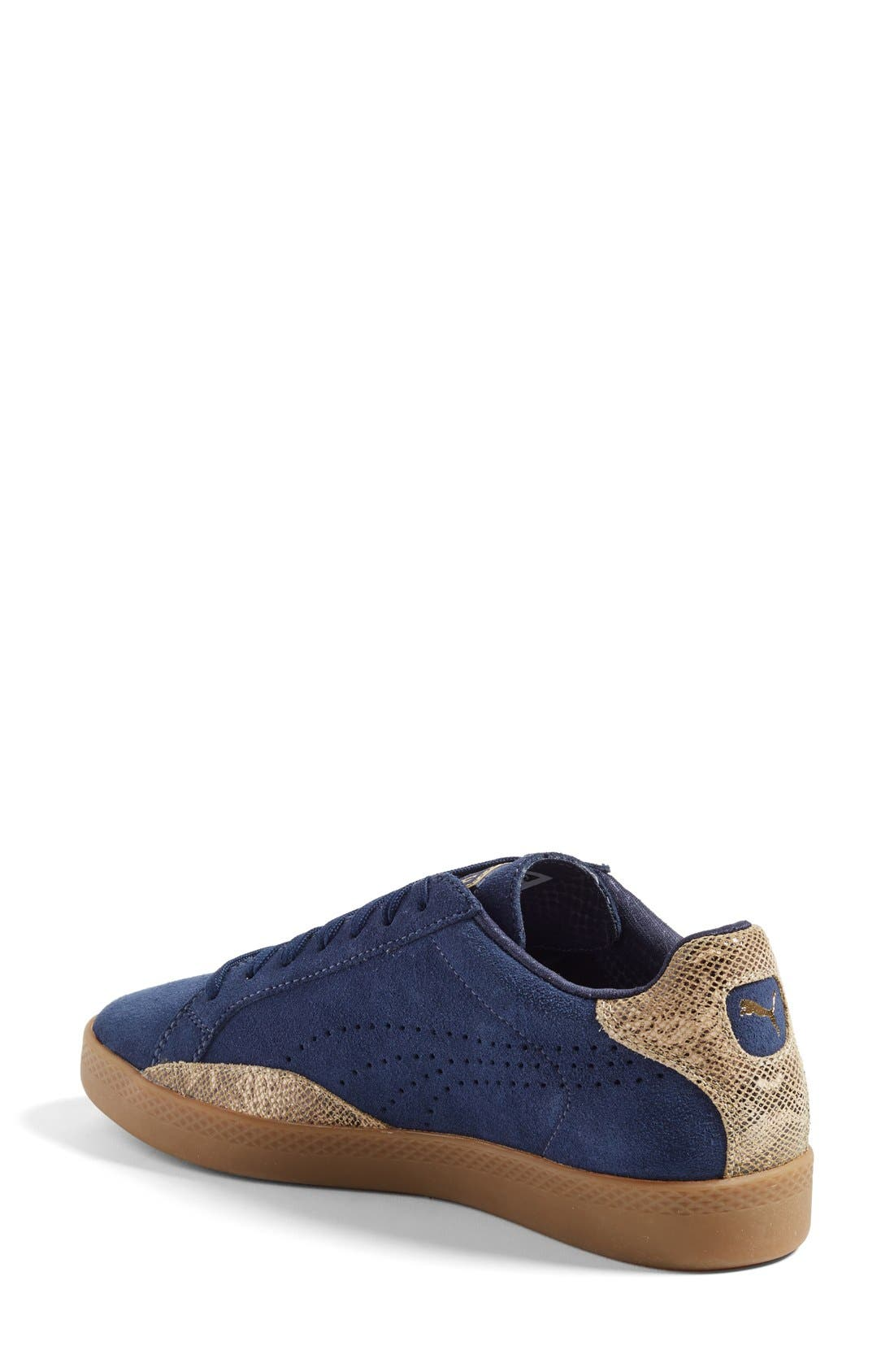 Alternate Image 2  - PUMA 'Match Lo - Basic Sport' Leather Sneaker (Women)