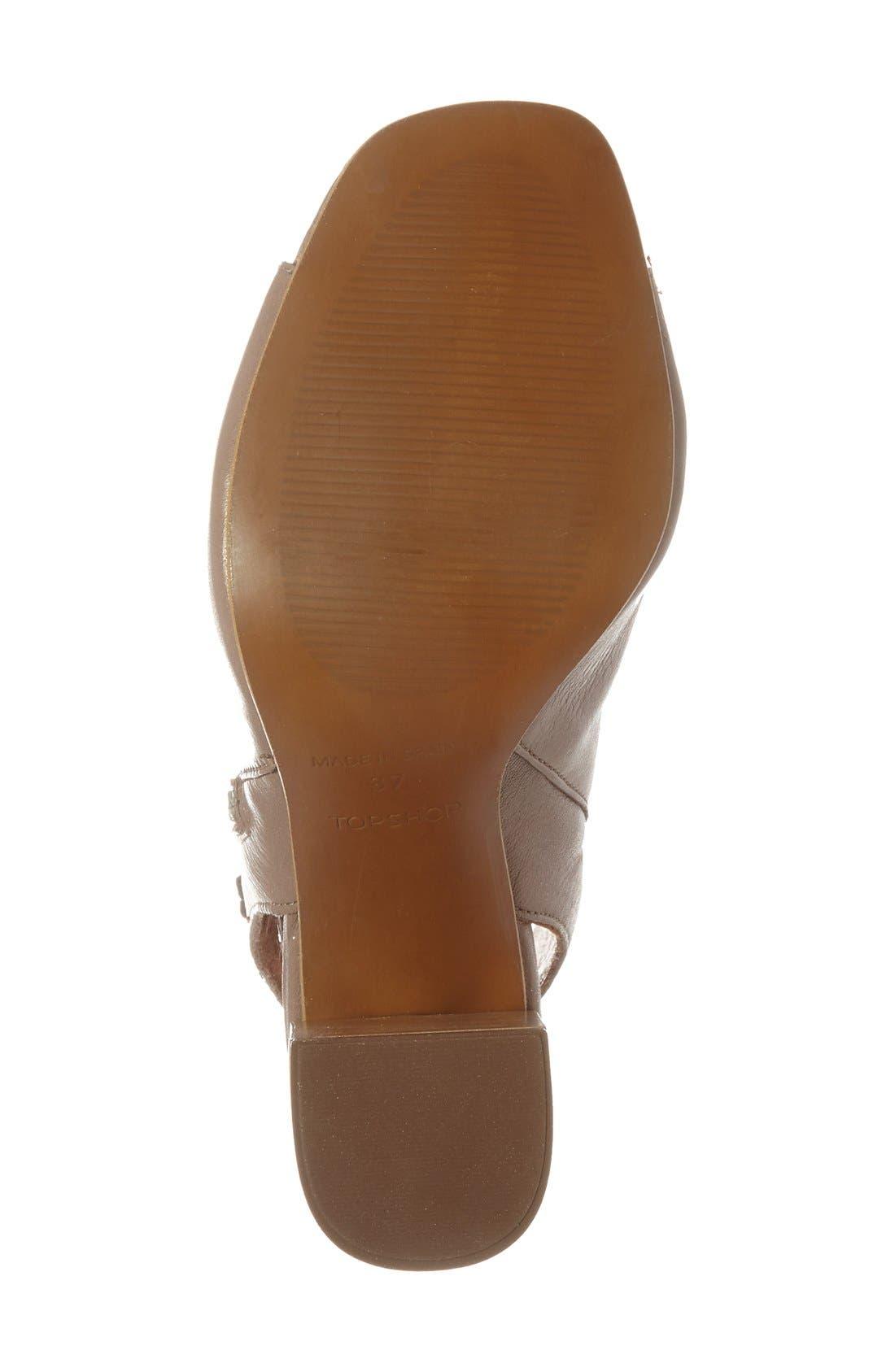 Alternate Image 4  - Topshop 'Home' Peep Toe Boot (Women)