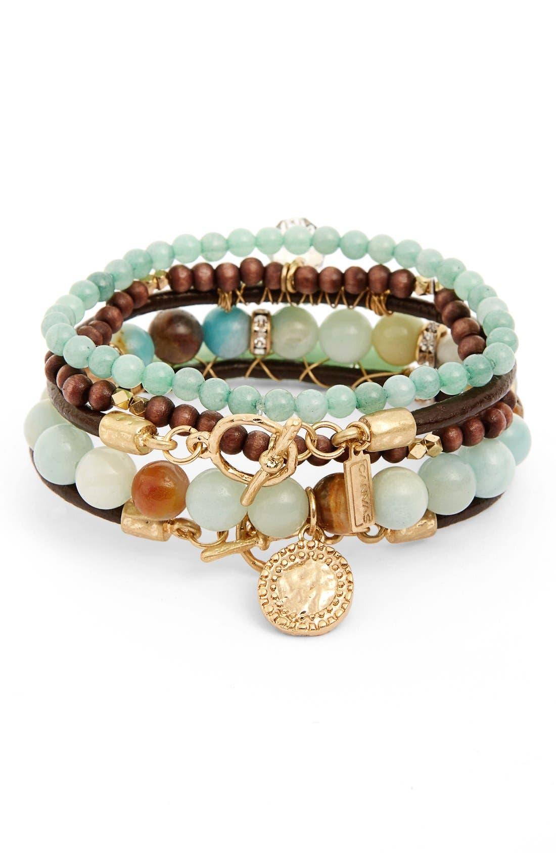 Canvas Jewelry Amazonite Multistrand Bracelet
