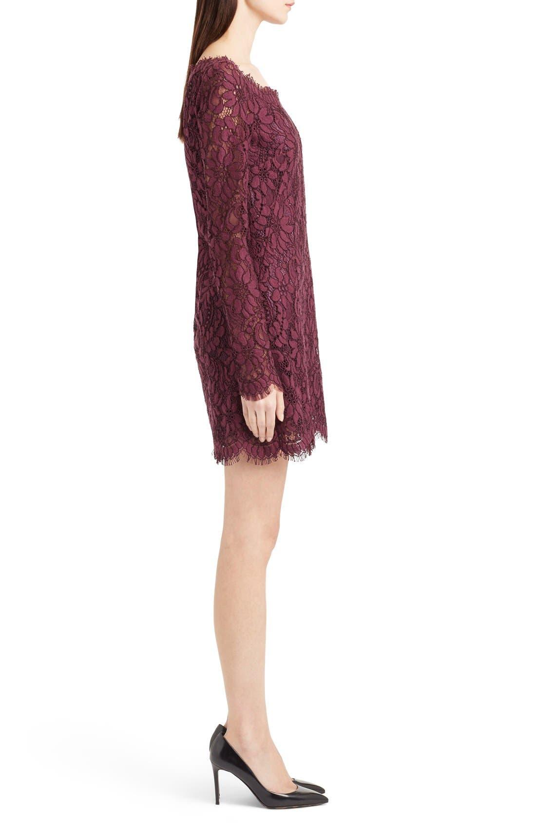 Alternate Image 4  - Dolce&Gabbana Scoop Neck Lace Shift Dress