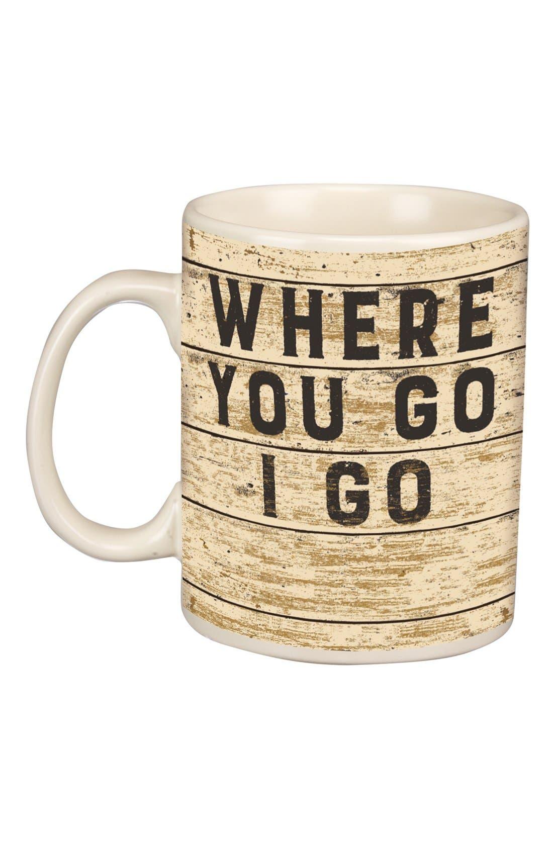 Alternate Image 1 Selected - Primitives by Kathy 'Where You Go, I Go' Mug